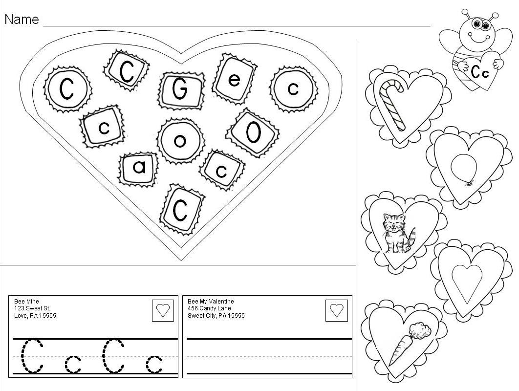valentine alphabet practice letters letter sounds valentine 39 s day pages center lessons. Black Bedroom Furniture Sets. Home Design Ideas