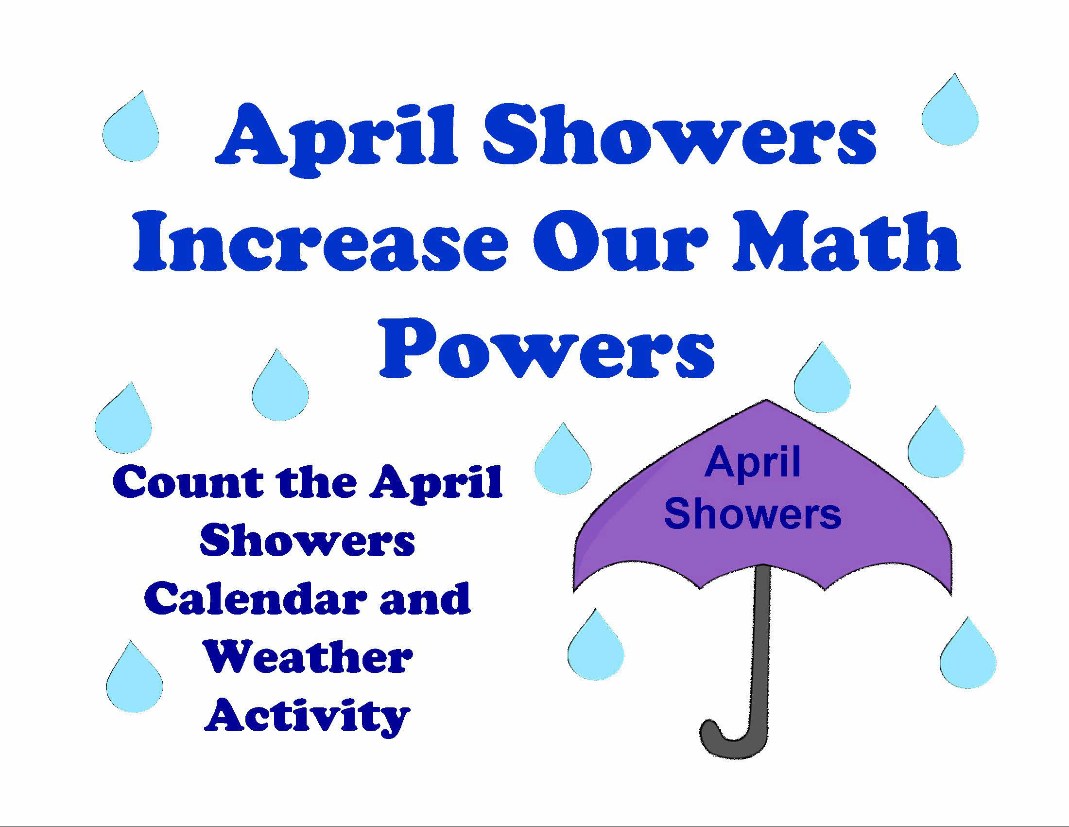 april showers calendar and weather activity lessons for little