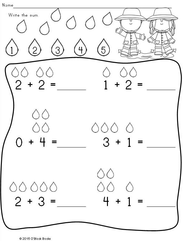 Spring Kindergarten Math Differentiated No Prep Activity