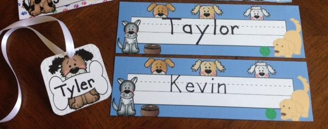 Classroom Decor Dogs ~ Back to school activities classroom decor dog theme
