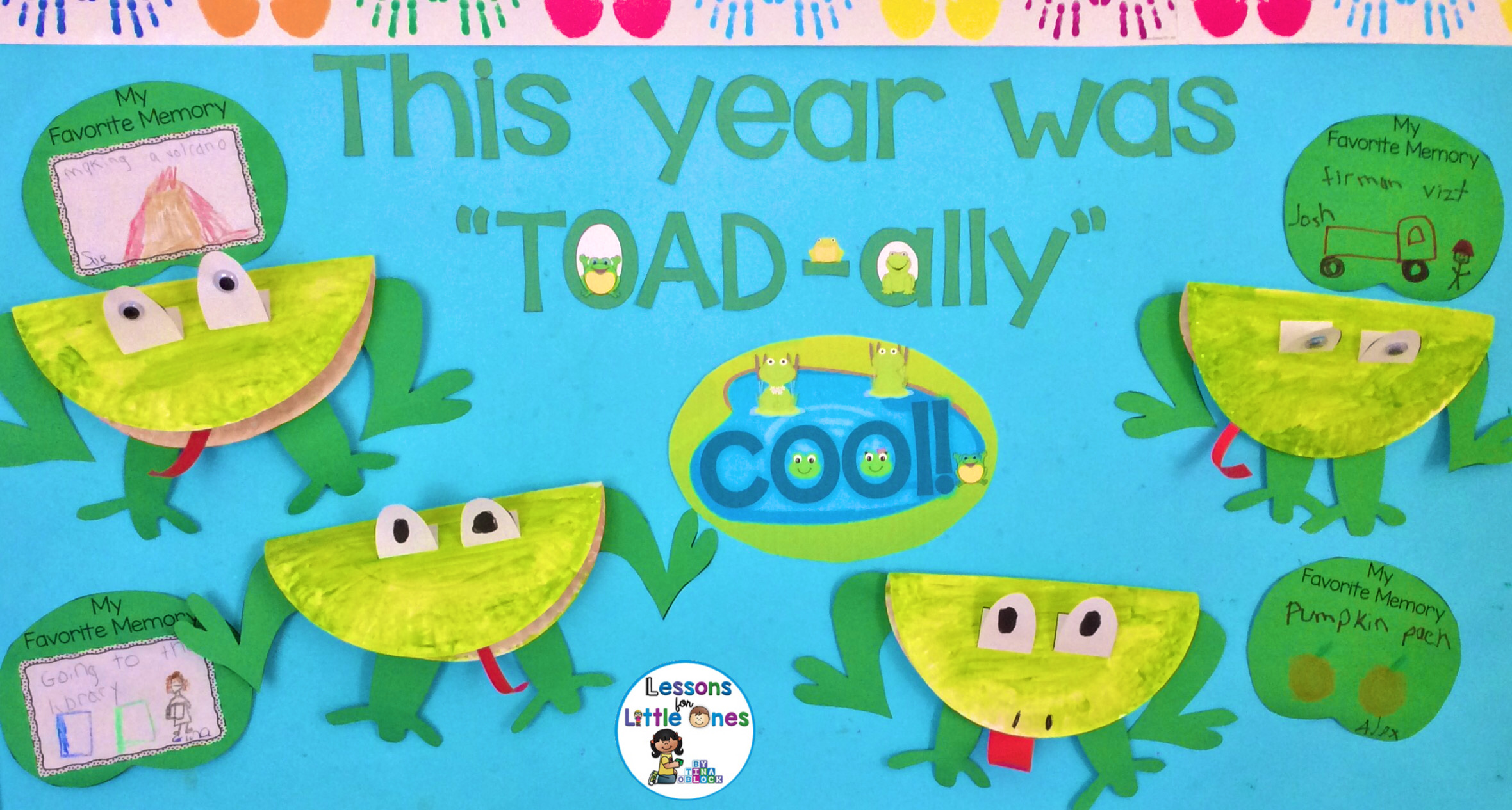End Of The Year Bulletin Boards Craftivities With Writing Prompts Lessons For Little Ones By Tina O Block