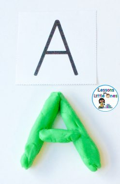 form letters with play dough