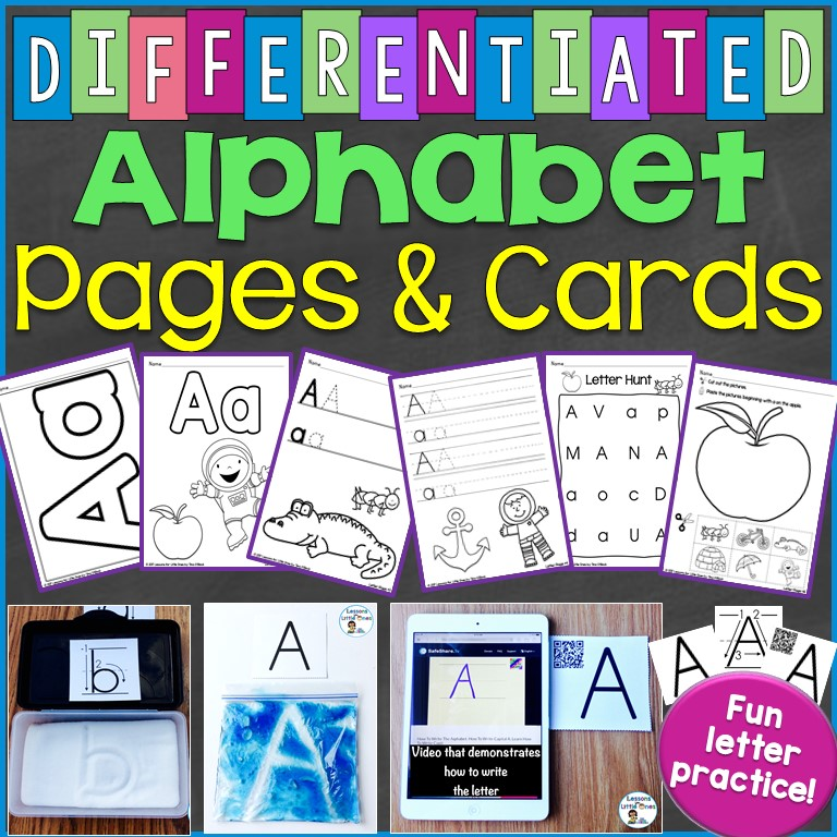 Differentiated Alphabet Pages & Cards