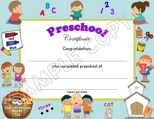 preschool graduation certificate editable