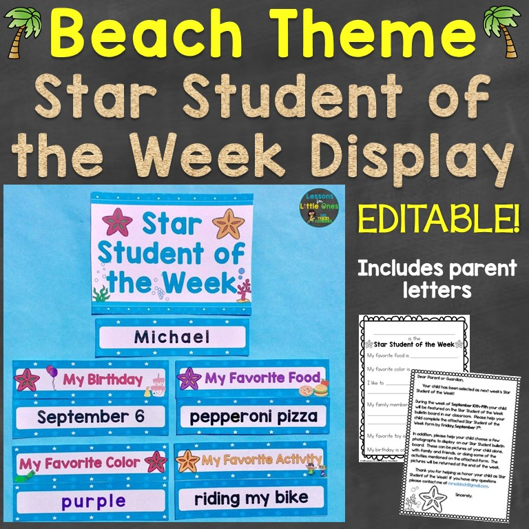 Beach Theme Classroom Decor Ideas & First Day of School